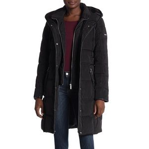 DKNY Hooded Down Coat